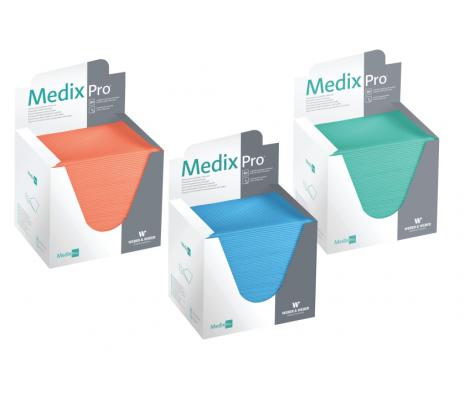 MedixPro serwety 33 cm x 48 cm odcinki pojedyncze niebieskie