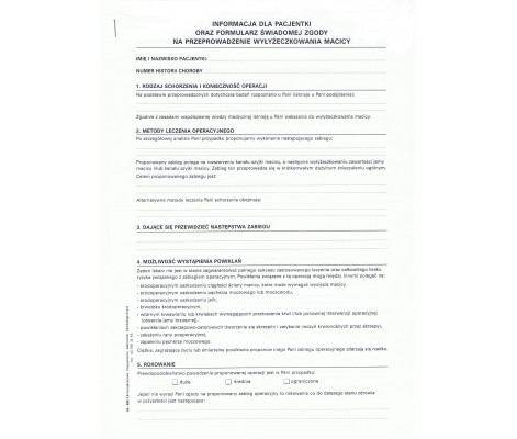 consent form for curettage of uterus