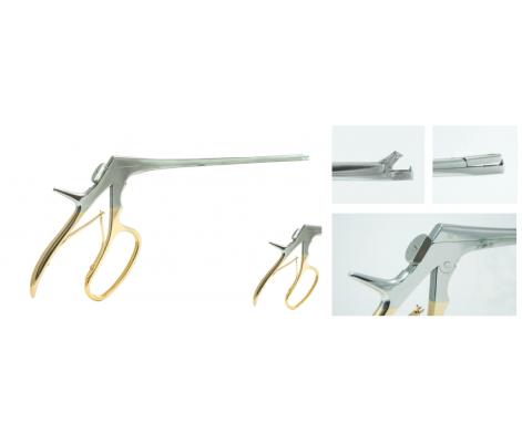 baby tischler biopsy forceps, gold, non-rotating, immovable